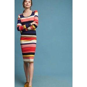 Anthro Plenty by Tracy Reese Vivid Striped Dress